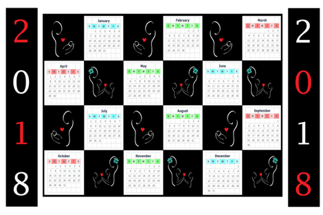 2018 Calendar - Parental Love - Landscape Style fabric by b2b on Spoonflower - custom fabric
