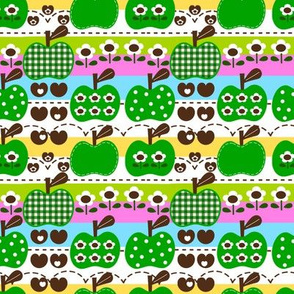 happy apple_green