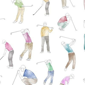 Watercolor Golfers // Large