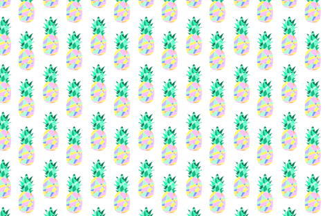 Geometric Pineapple Pop fabric by lub_by_lamb on Spoonflower - custom fabric
