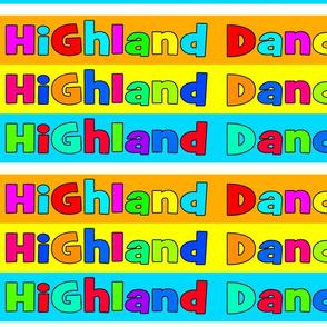 Highland Dancer Candy Colour Design