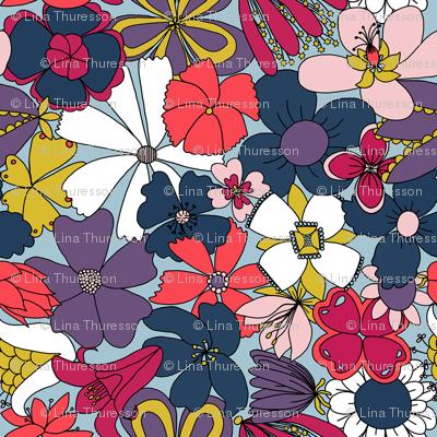 Multi Floral -   Fleur du cœur