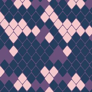 Purple and Pink Diamond Squares