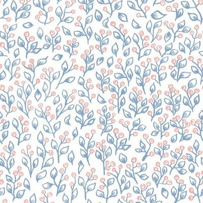 Floral pastels -  Light blue and pale pink