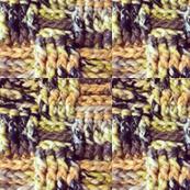 Crochet basketweave (yellow black green)