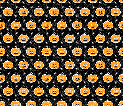Happy Pumpkin fabric by mia_valdez on Spoonflower - custom fabric