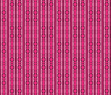 Pink Beaded Tribal Stripe fabric by gingezel on Spoonflower - custom fabric