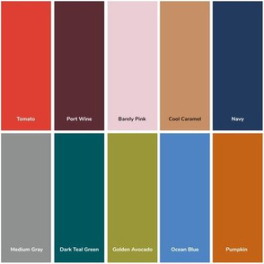 Fall 2017 Color Swatch