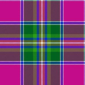 "Spens / Spence tartan, 6"" pink variant"