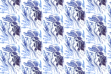 Blue Meadow fabric by hot_office on Spoonflower - custom fabric