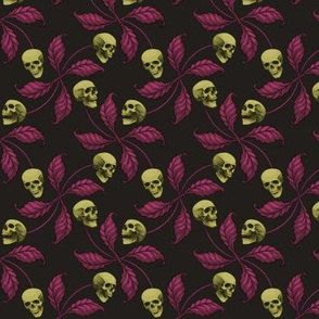 ★ PSYCHOBILLY CHERRY SKULL ★ Small Scale / Collection : Cherry Skull - Rock 'n' Roll Old School Tattoo Print