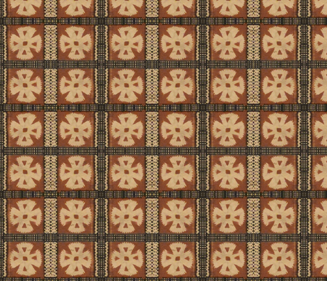 fijian tapa cloth 15 fabric by hypersphere on Spoonflower - custom fabric