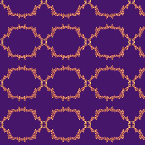Abstract Leaves Purple Medallion
