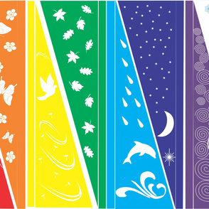 Rainbow Flags with Design