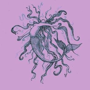 Mermaid #2-Lilac&teal-ed
