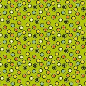 Vintage Halloween Dot Green