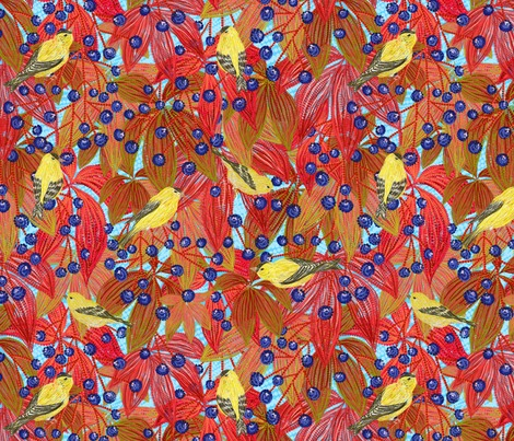 R1goldfinches_on_wild_red_grapes__blue2__contest154167preview