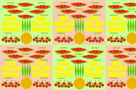 fruit_and_veggies_vers_a fabric by designs_by_phyllis_lepore on Spoonflower - custom fabric