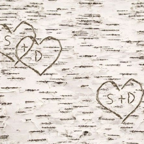 S+D Birch Bark Hearts