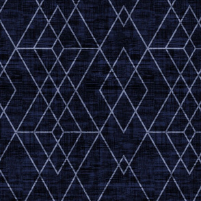 Geometric Grid - Navy texture