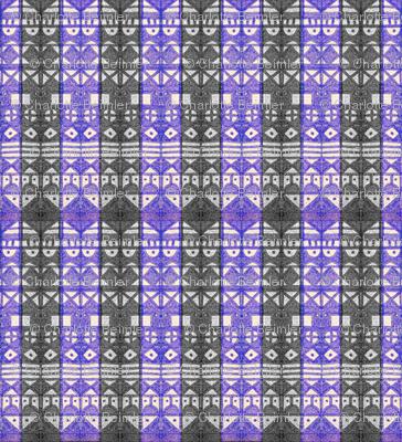 Tribal Stripe - Blue & Gray