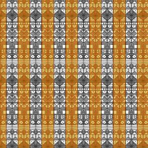 Tribal Stripe - Gold & Gray