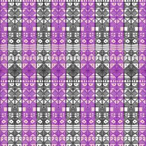 Tribal Stripe - Purple & Gray