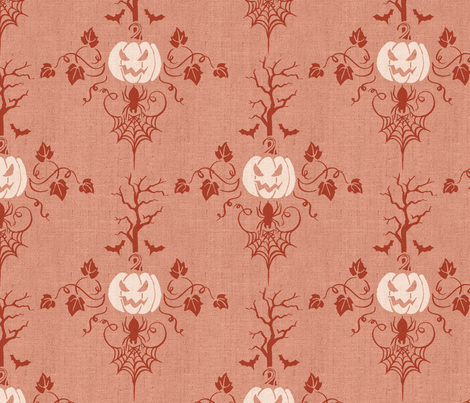 Vintage Halloween in Orange fabric by adenaj on Spoonflower - custom fabric