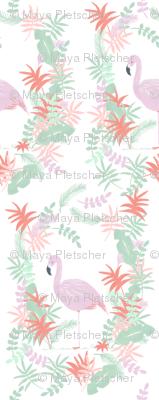Tropical Flamingo in Pastel