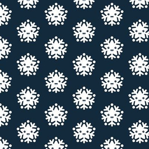 Kawaii love snow flake winter wonderland japan lovers design navy blue