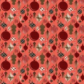 "2"" Lumberjack Christmas Ornaments on Red"