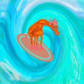 Giraffe Surfing