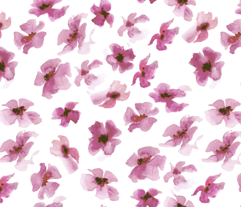 Watercolor floral - madder rose fabric by aliceelettrica on Spoonflower - custom fabric