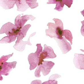 Watercolor floral - madder rose