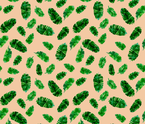 Tropical palm - green and pink fabric by aliceelettrica on Spoonflower - custom fabric