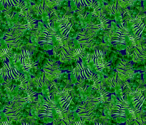 Tropical palm - green and grey fabric by aliceelettrica on Spoonflower - custom fabric