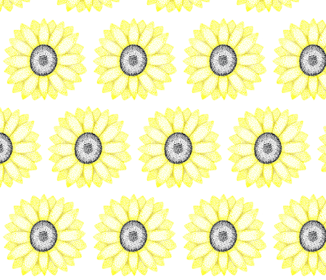 sunflower fabric by norachan on Spoonflower - custom fabric