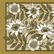 Sunflower_Woodblock_