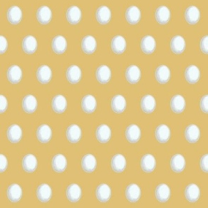 white eggs on deep yellow