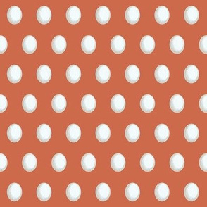 white eggs on red orange