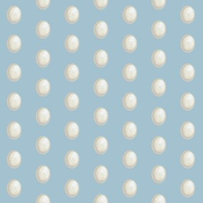 white eggs on light blue