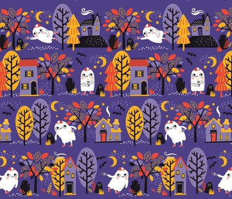 ghostiesgraveyard fabric by lizmytinger on Spoonflower - custom fabric