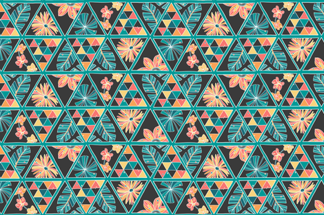 triangle-floral fabric by heather_brockman_lee on Spoonflower - custom fabric