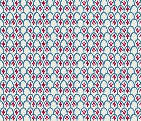 Fish_scales_red_70_ fabric by jeanherrondesign on Spoonflower - custom fabric