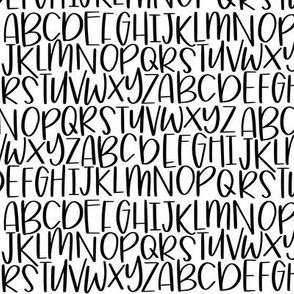 Zus Designs Hand Lettered Quirky Alphabet