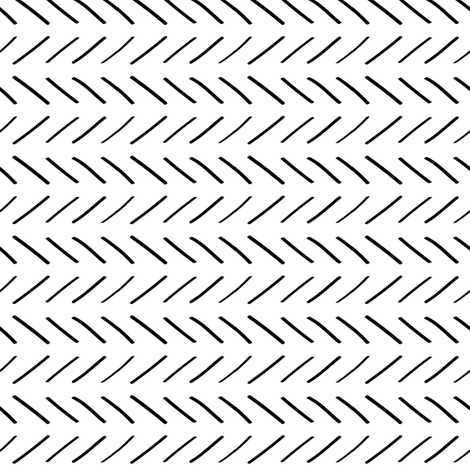 Sketched Lines- White Background fabric by huffernickel on Spoonflower - custom fabric