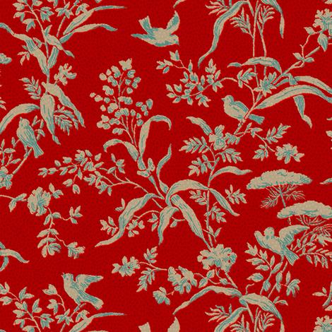 Toile des Oiseaux 1a fabric by muhlenkott on Spoonflower - custom fabric