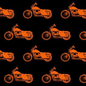 """2.5"""" Orange Motorcycles"""