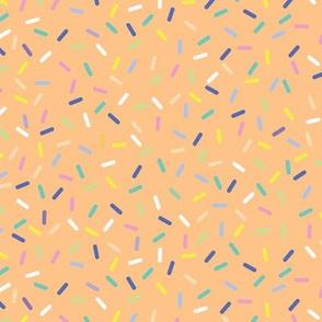 Rainbow Sprinkles - Apricot