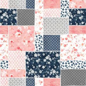 Cherry blossom patchwork